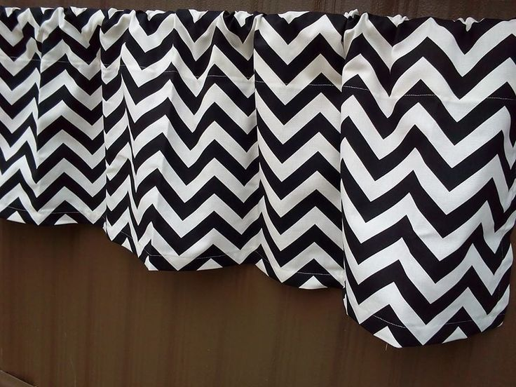 Black And White Chevron Valance