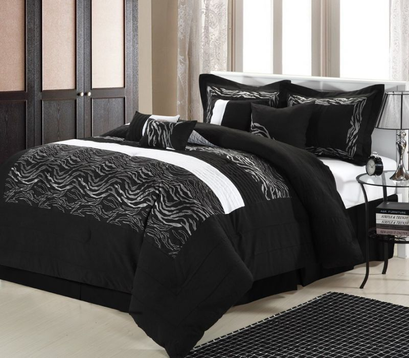 Black And White Comforter Set Queen