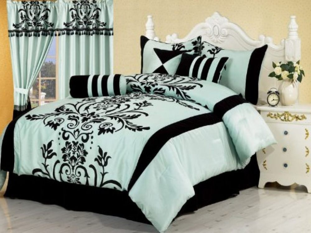 Black And White Full Comforter Set