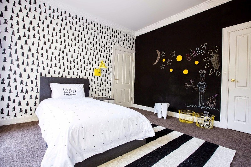 Black And White Kids Bedroom