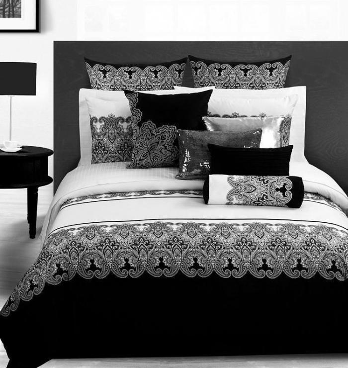Black And White Queen Size Comforter Sets