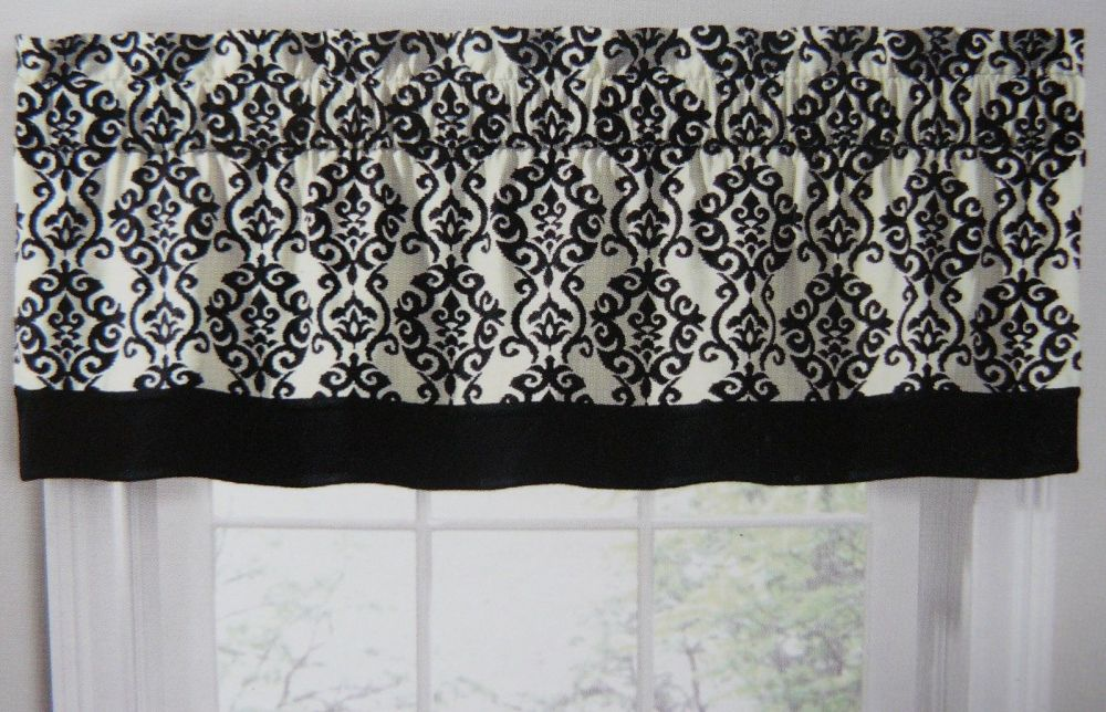 Black And White Striped Valance