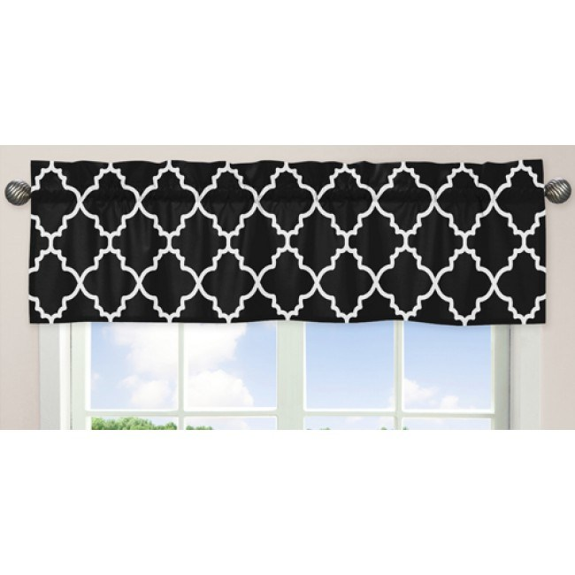 Black And White Window Valance