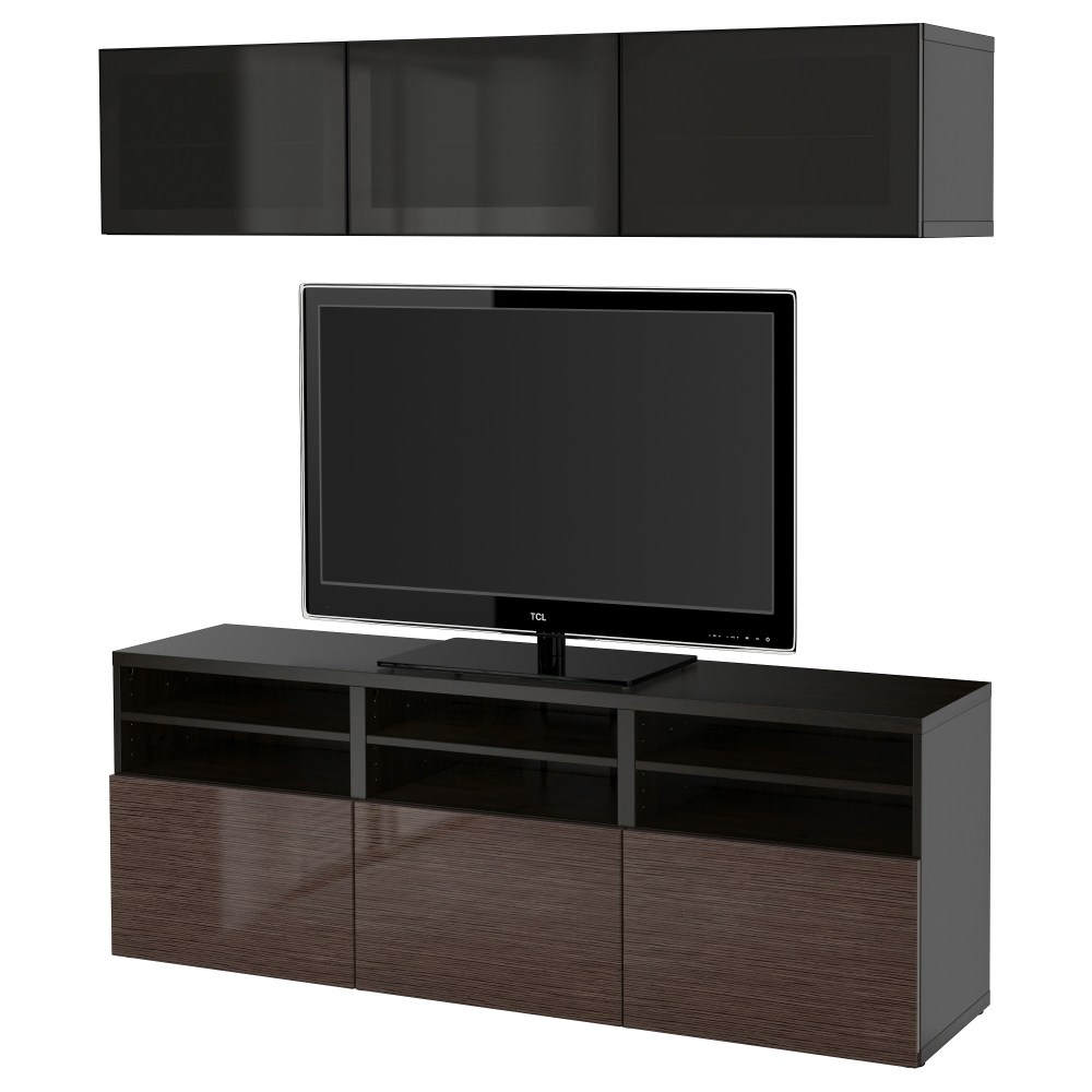 Black Brown Tv Stand