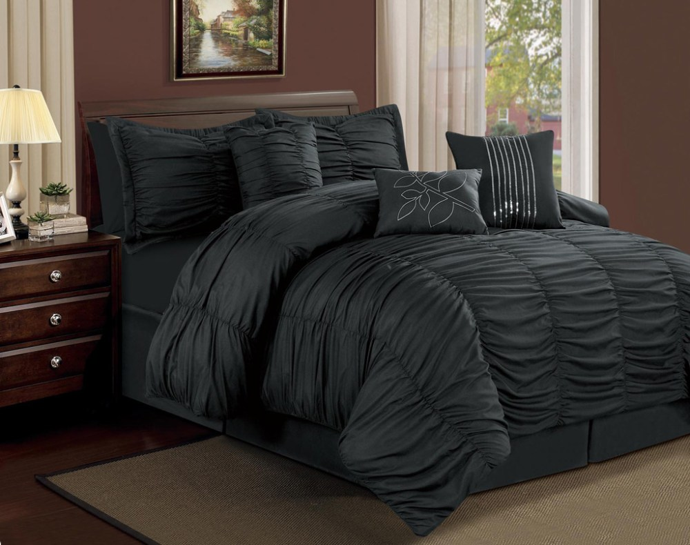 Black Comforter Set Full