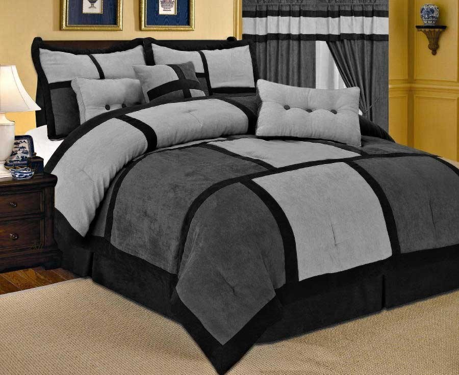Black Comforter Set King