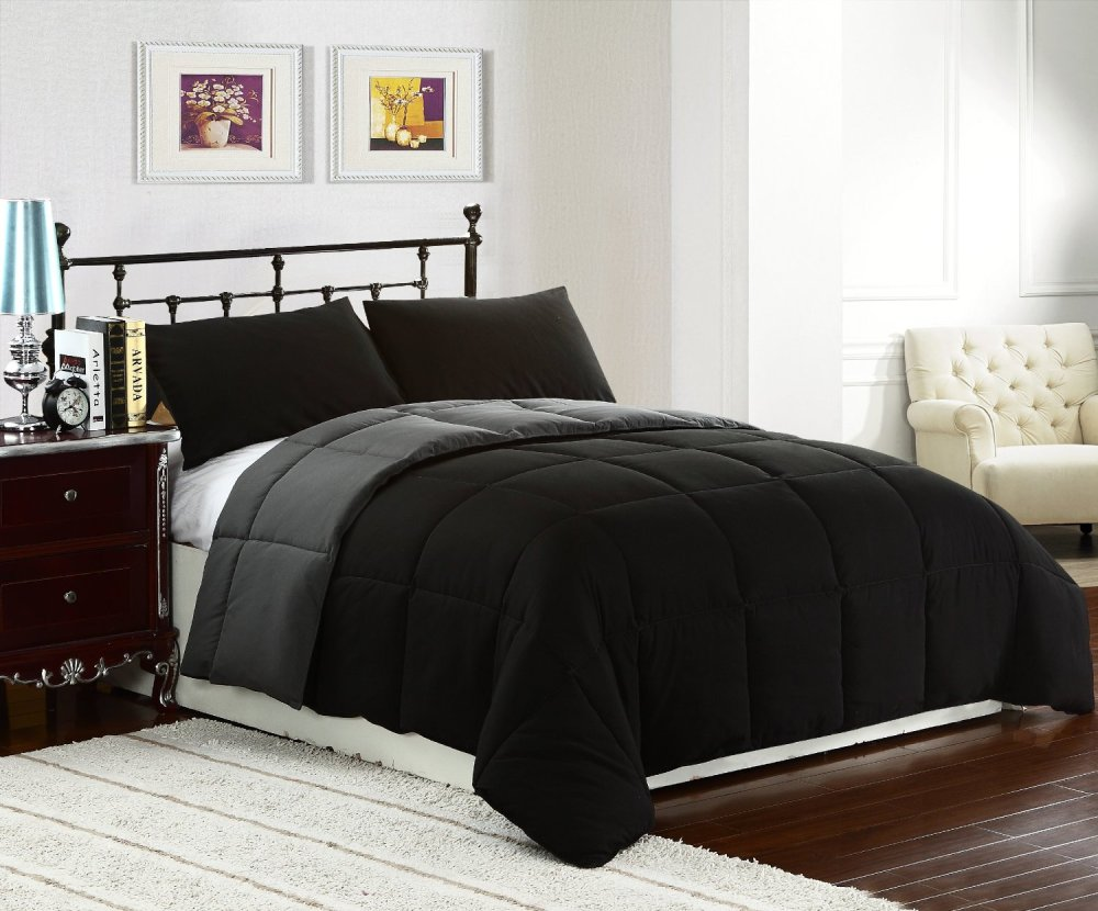 Black Comforter Set Queen
