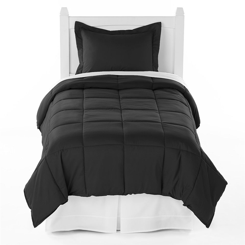 Black Comforter Set Twin