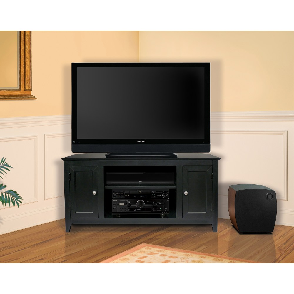 Black Corner Tv Stand For Tvs Up To 50