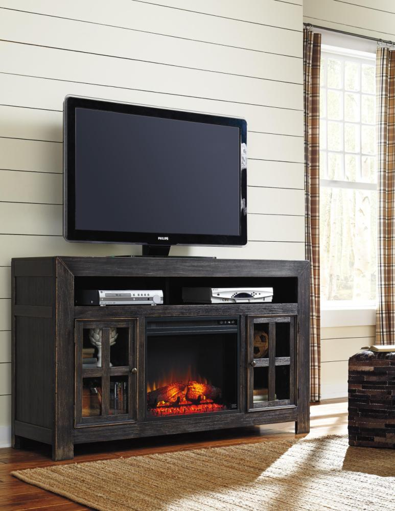Black Distressed Tv Stand