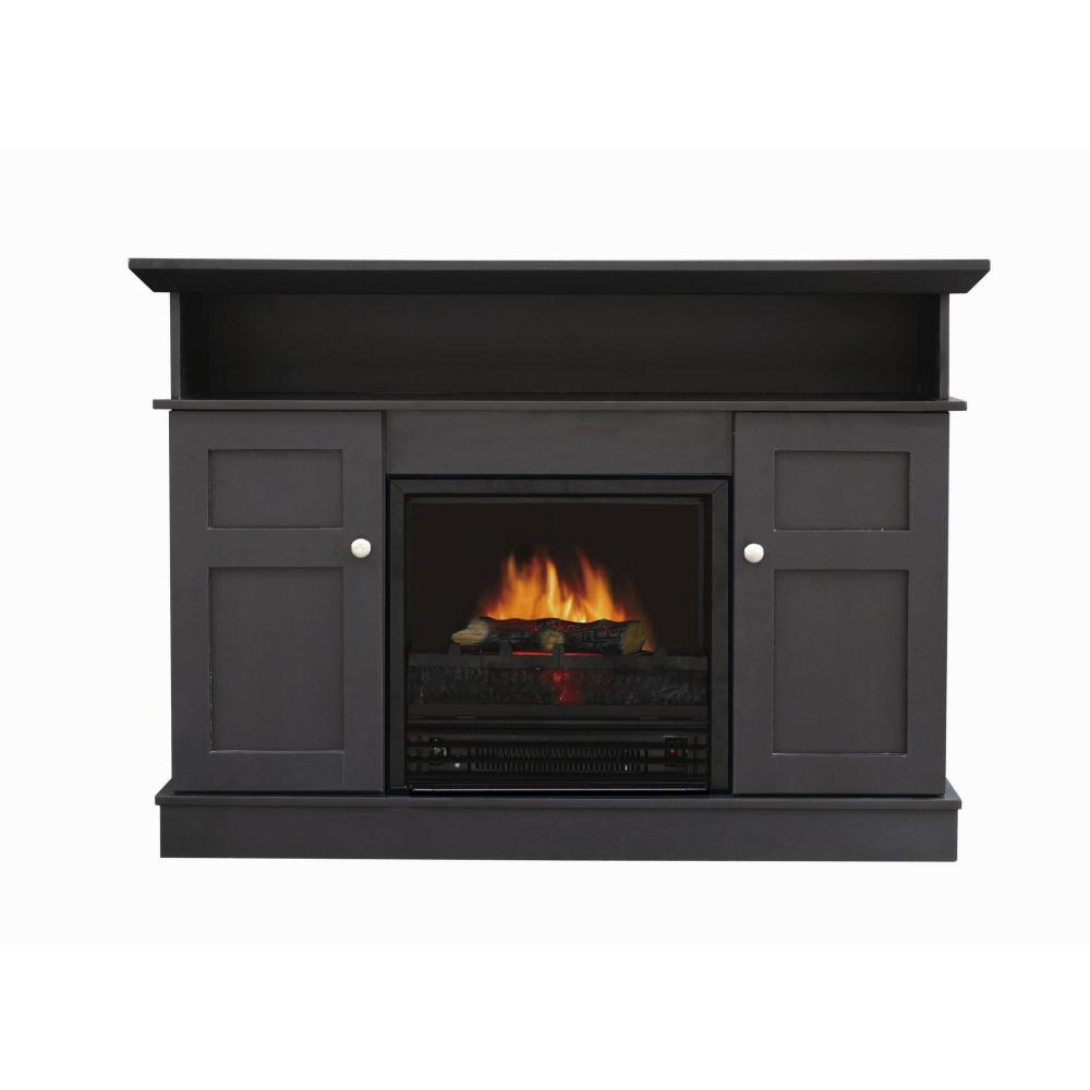 Black Fireplace Tv Stand Walmart