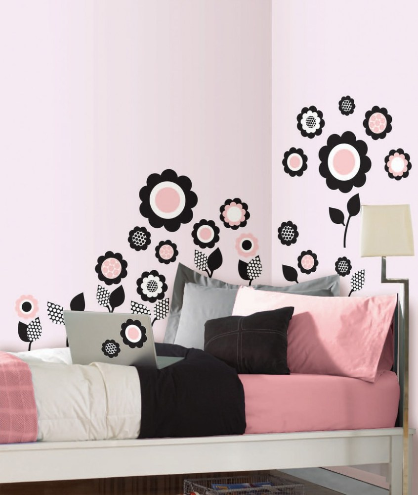Black Floral Wall Decals