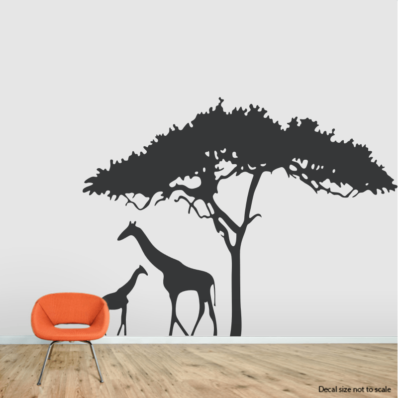 Black Giraffe Wall Decal