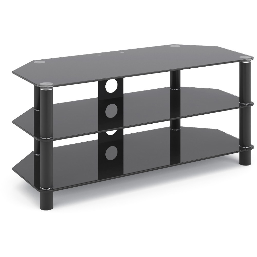Black Glass Tv Stand Walmart
