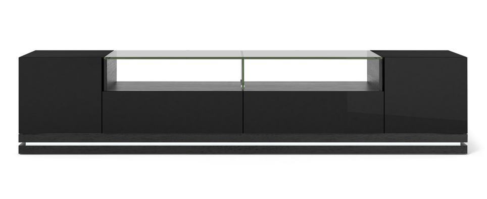 Black Gloss Tv Stand With Led Lights