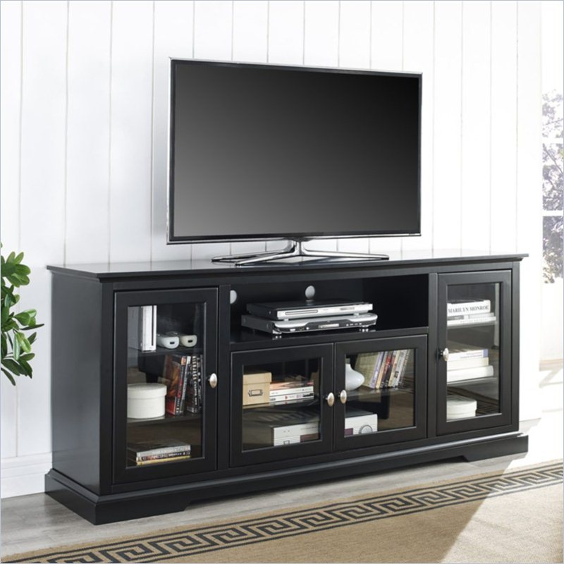 Black Highboy Tv Stand