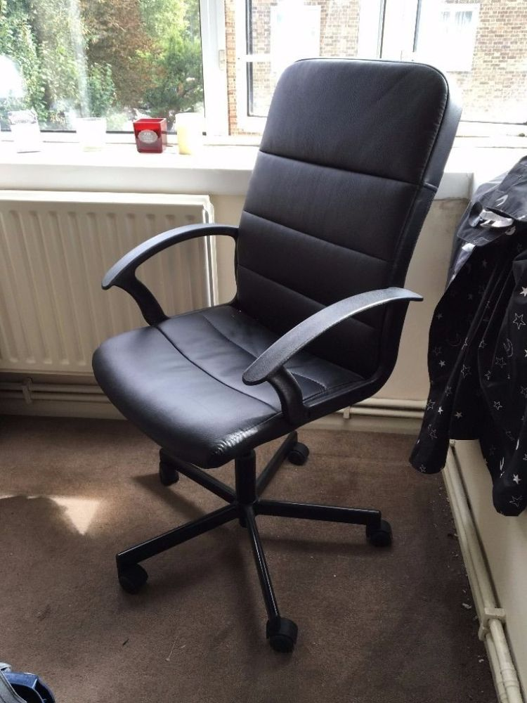 Black Leather Office Chair Ikea