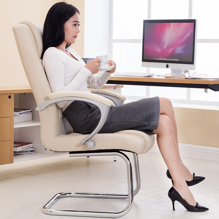 Black Office Chairs Without Wheels