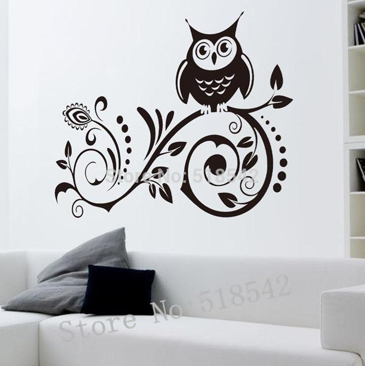 Black Owl Wall Decals