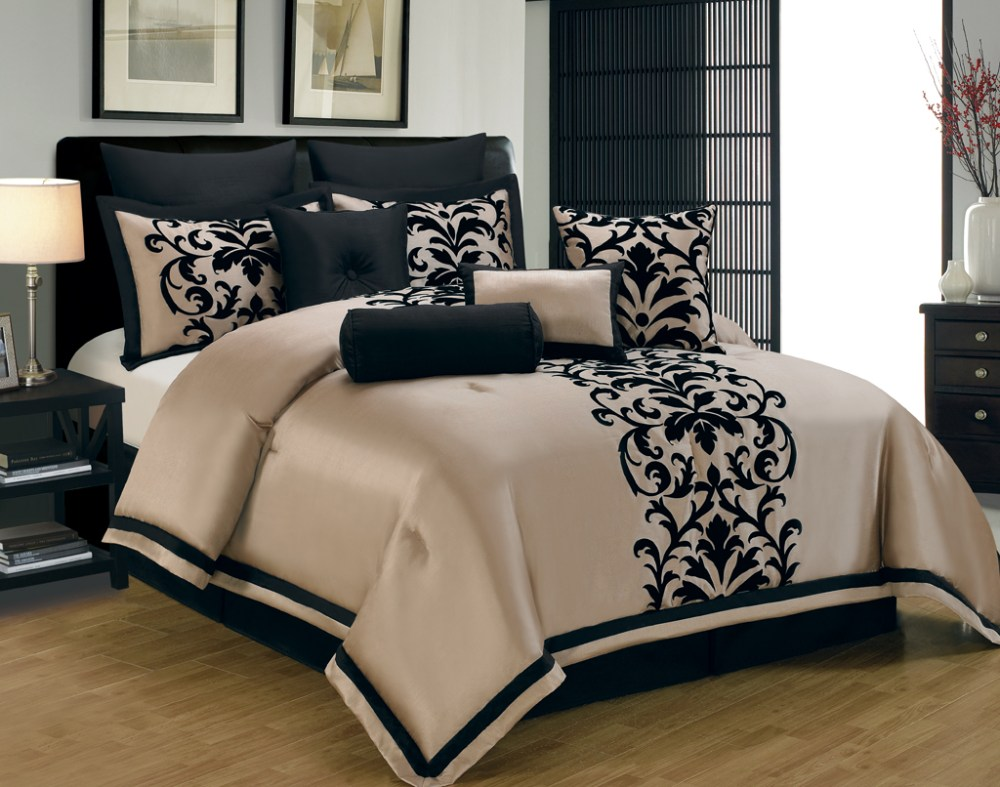 Black Red And White Comforter Set