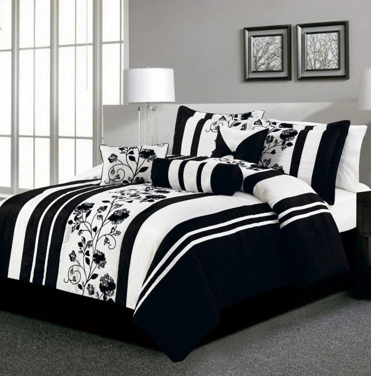 Black Red And White Comforter Sets