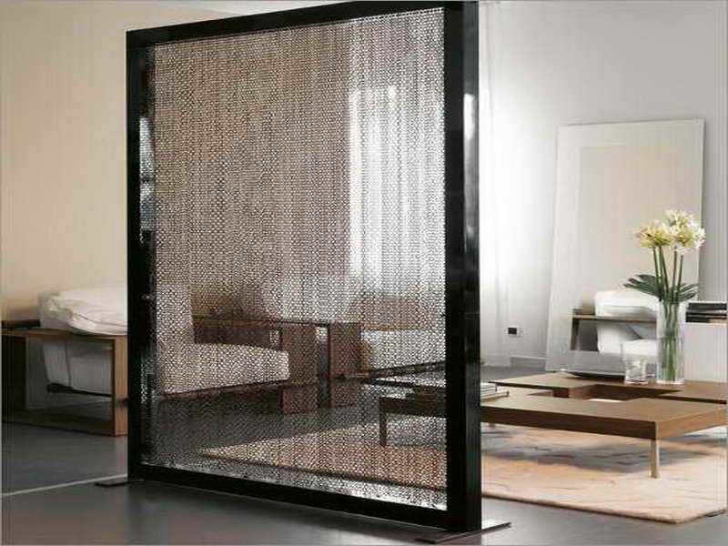 Black Room Divider Screen