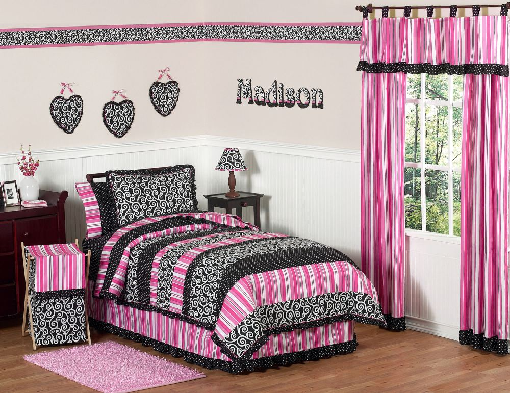 Black Ruffle Comforter Set
