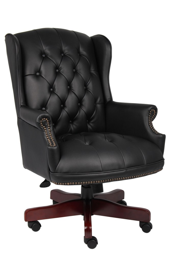 Black Tufted Office Chair