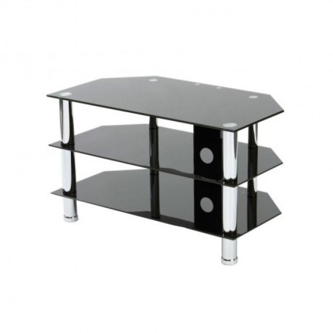 Black Tv Glass Stand