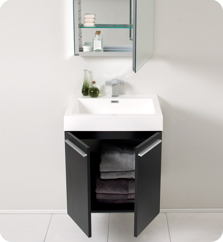 Black Wall Mounted Bathroom Cabinet