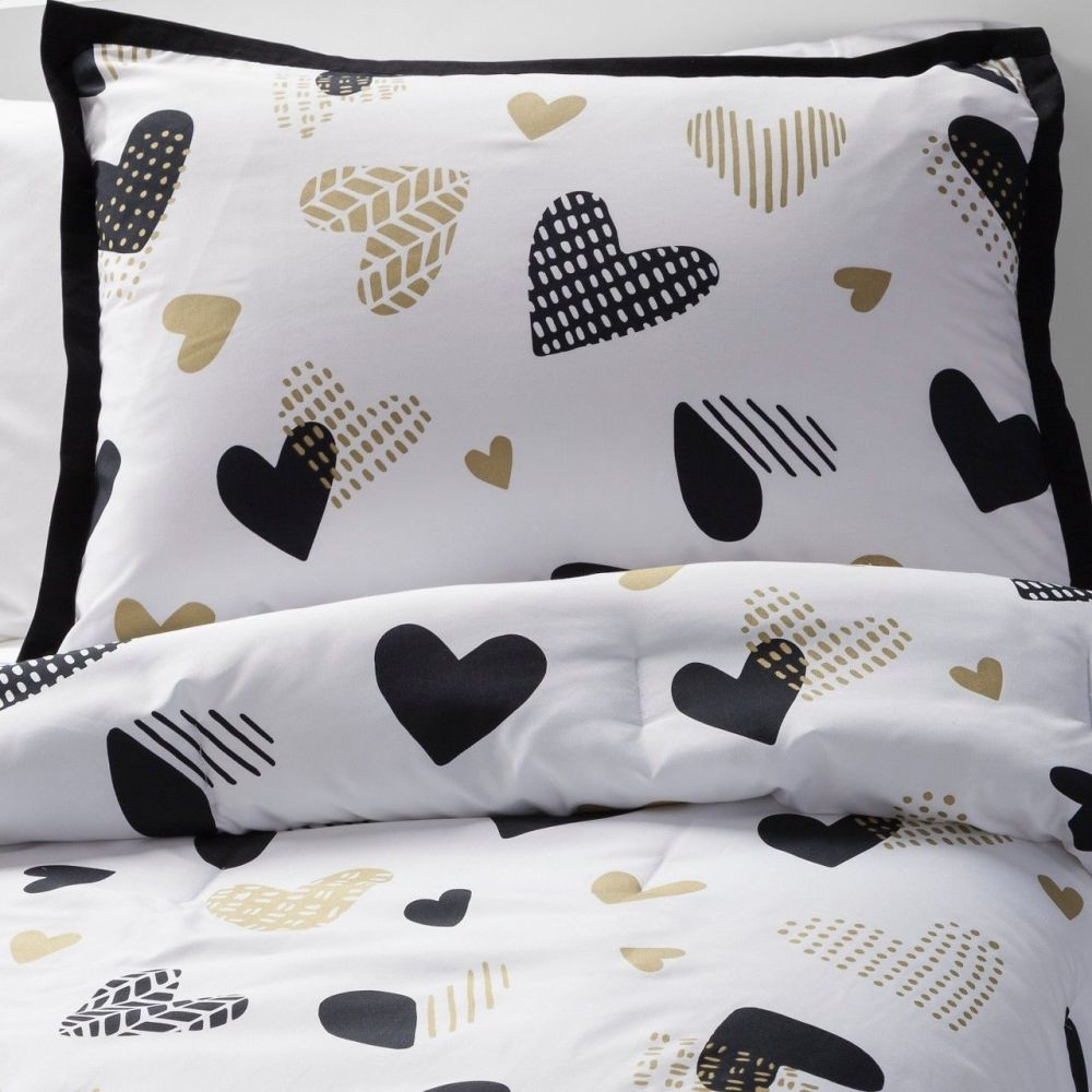 Black White And Gold Comforter Set