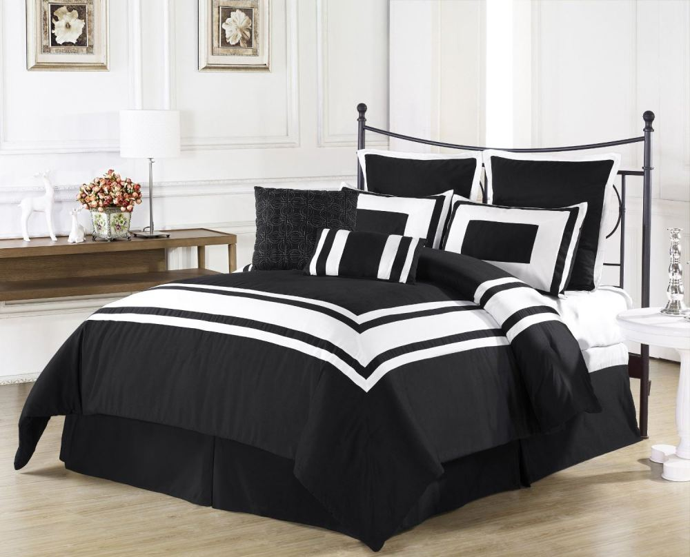 Black White And Red Comforter Set