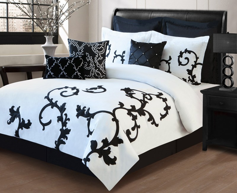 Black White Comforter Set