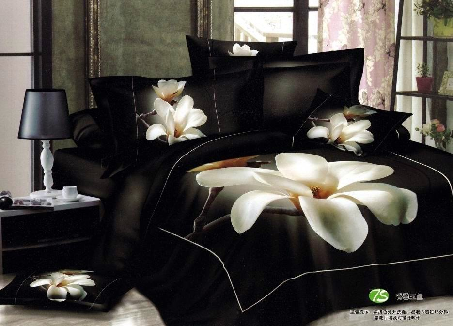 Black White Queen Comforter Sets