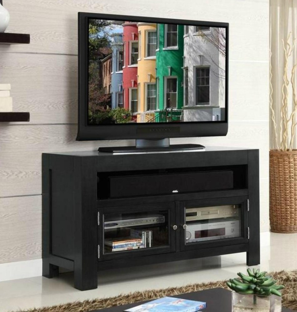 Black Wood Tv Stands