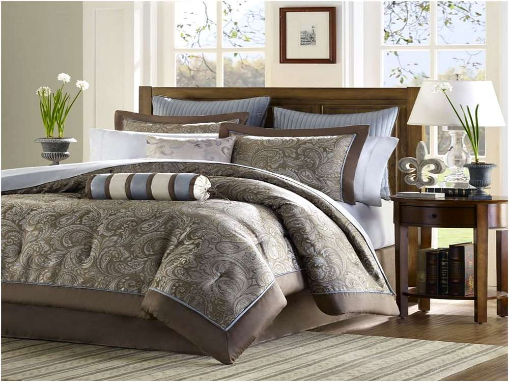 Blue And Brown Comforter Set