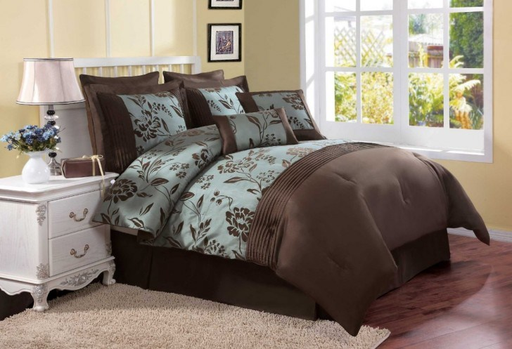 Blue And Brown Comforter Sets Queen