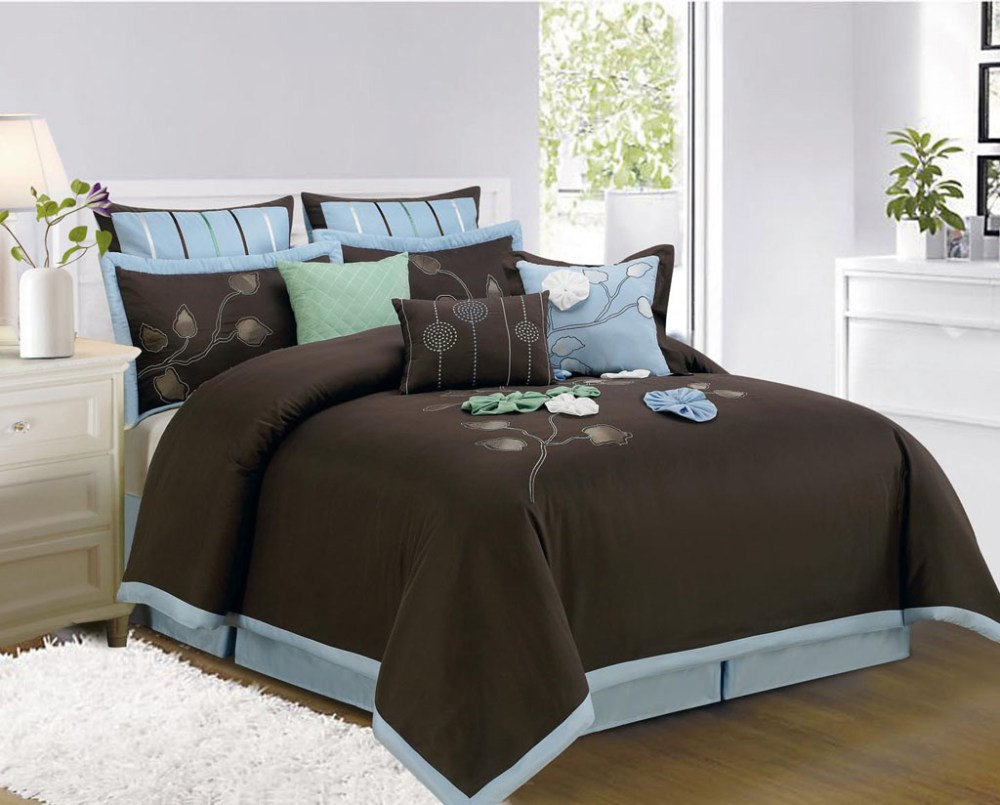 Blue And Brown King Comforter Sets