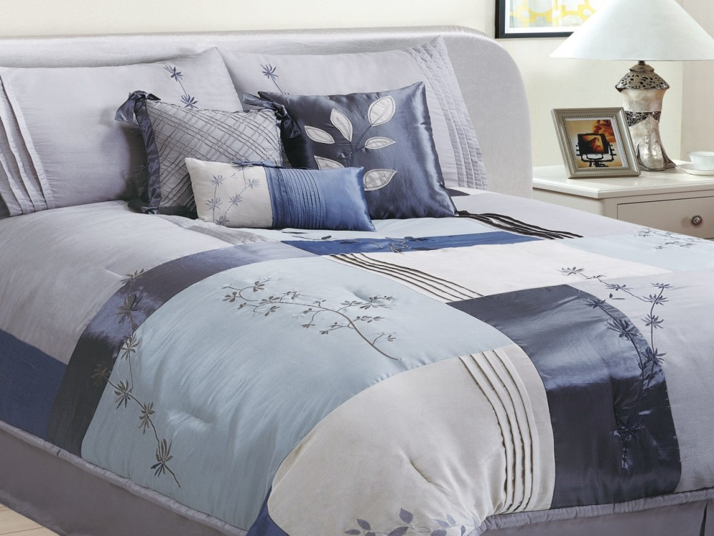 Blue And Gray Comforter Sets