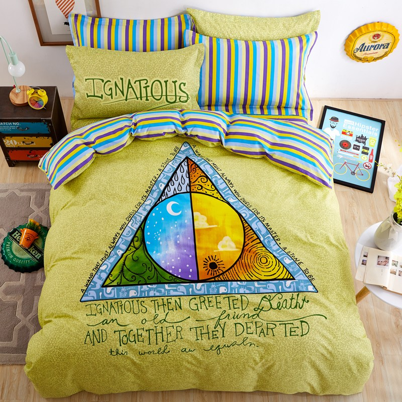 Blue And Green Kids Bedding