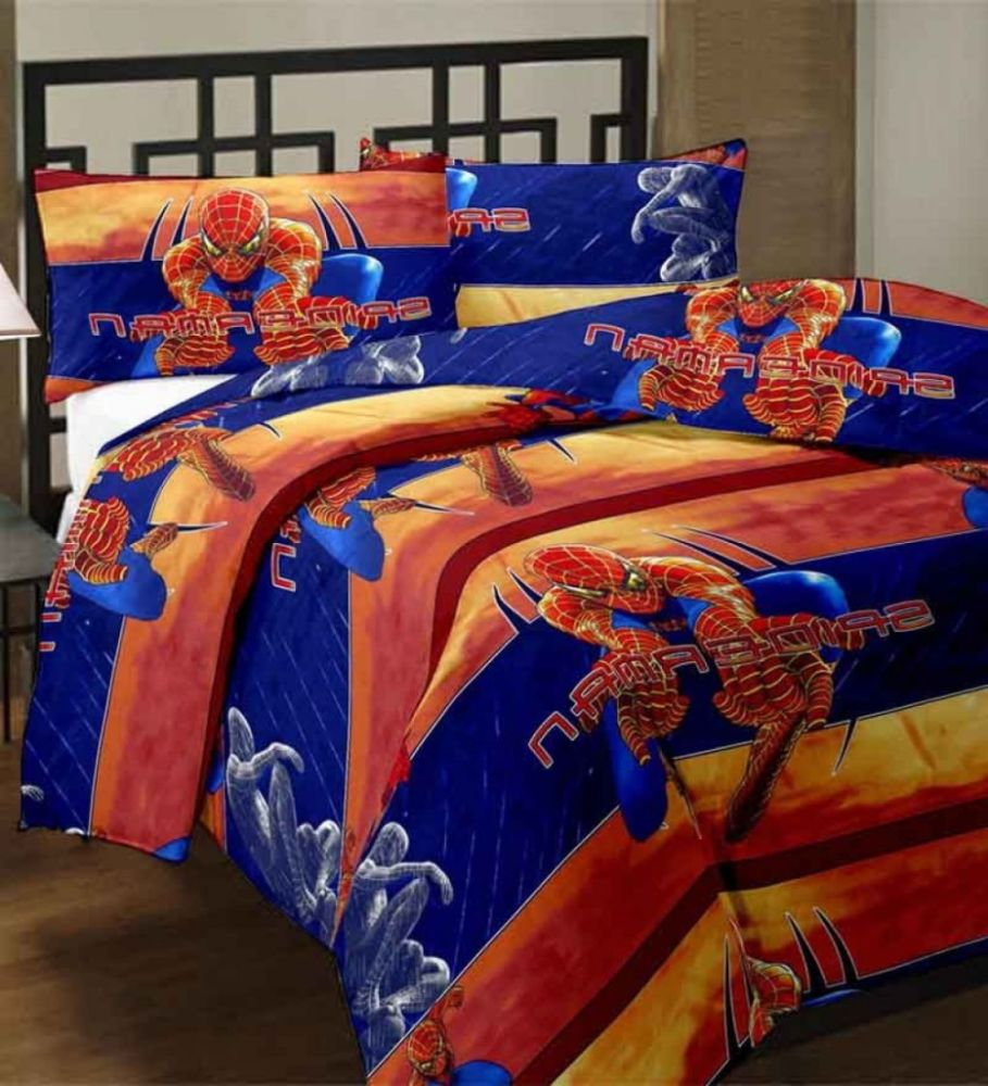 Blue And Orange Comforter Set