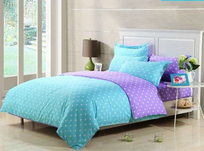 Blue And Purple Comforter Set