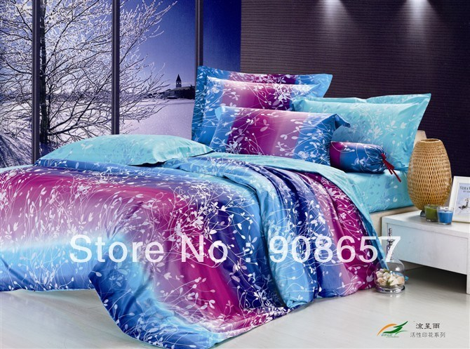 Blue And Purple Comforter Sets