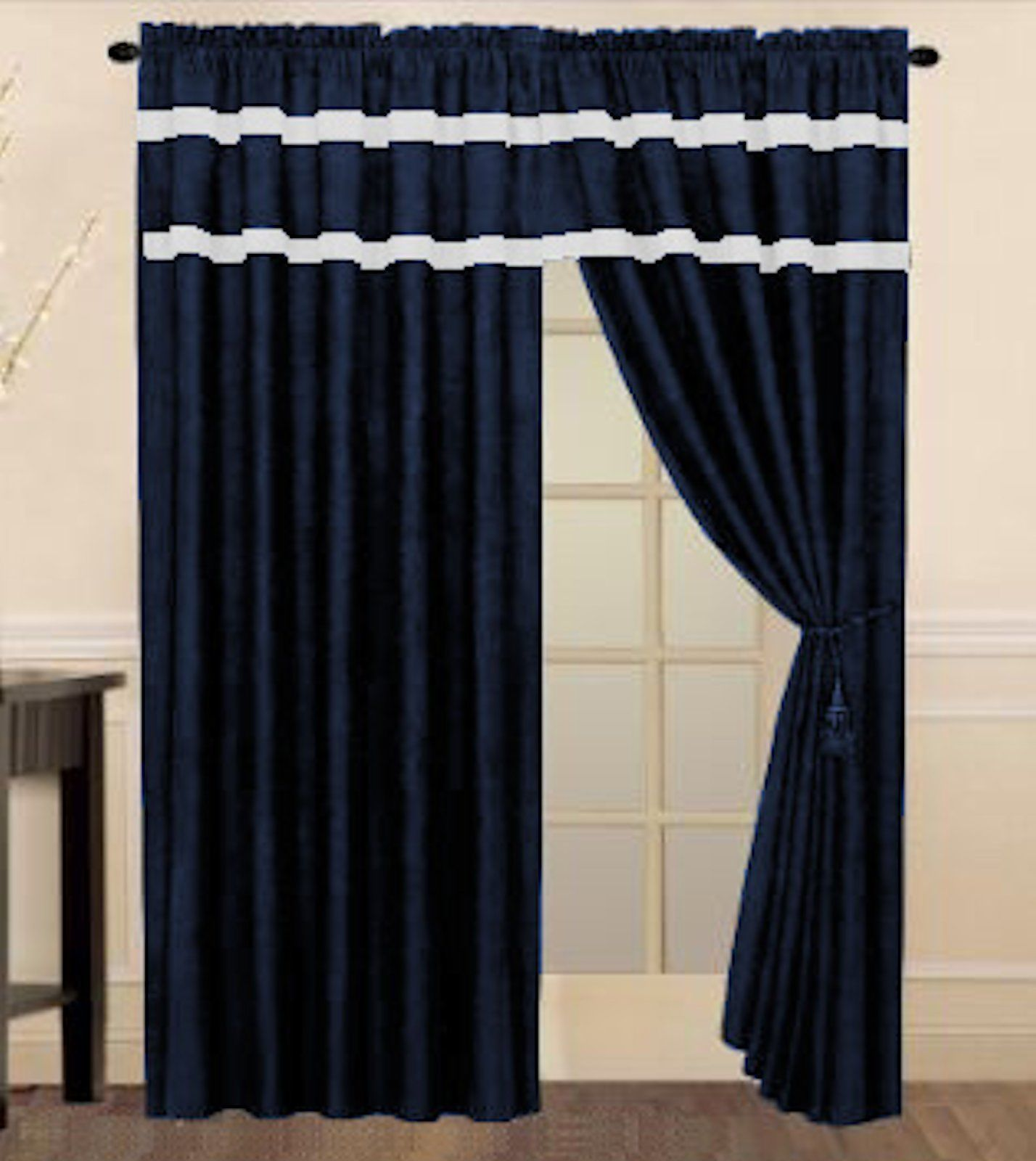Blue And White Striped Comforter Set