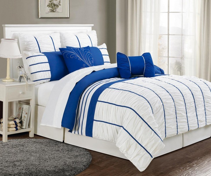 Blue And Yellow Comforter Set