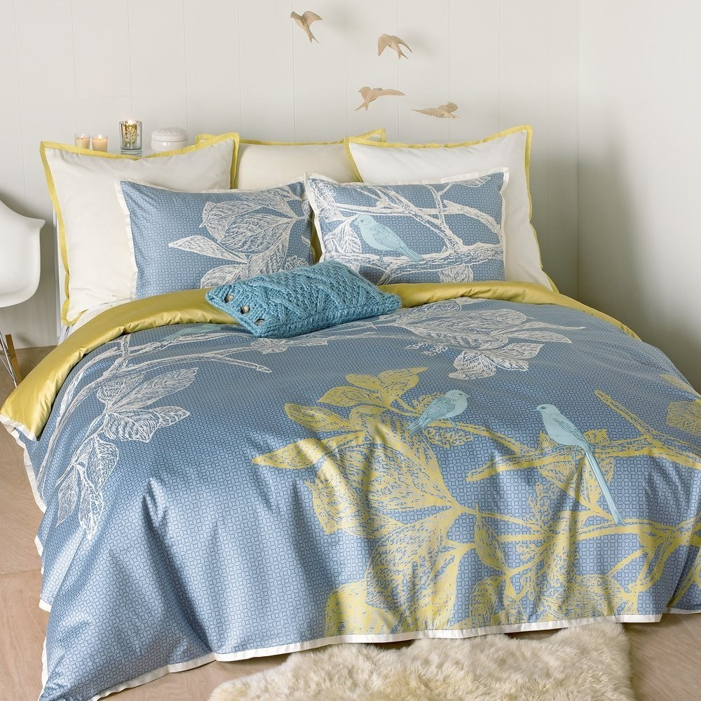 Blue And Yellow Queen Comforter Set