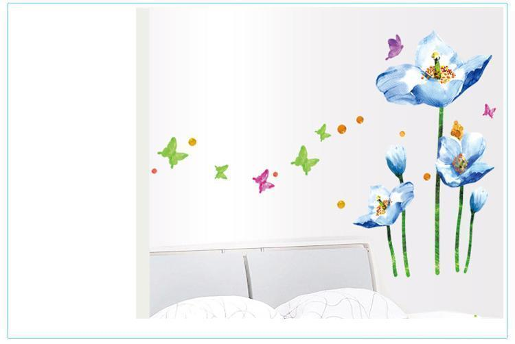 Blue Flower Wall Decals