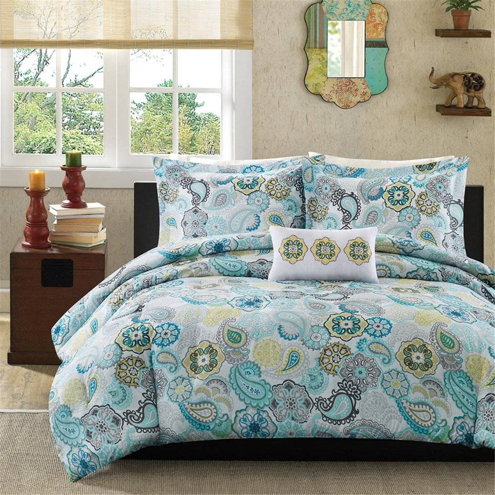 Blue Gray Comforter Set
