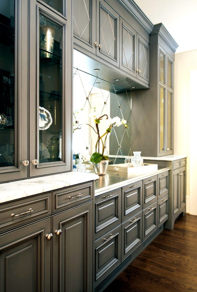 Blue Grey Bathroom Cabinets