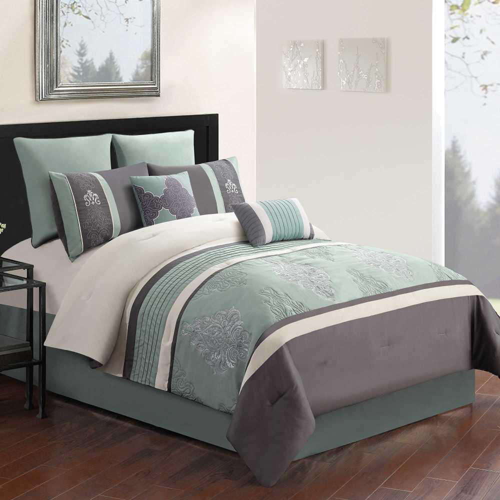 Blue Queen Comforter Set